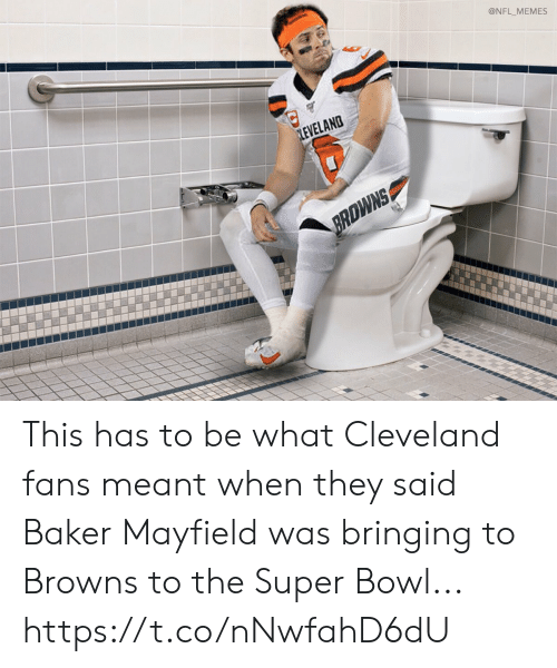 Cleveland: @NFL_MEMES  LEVELAND  BRDWNS This has to be what Cleveland fans meant when they said Baker Mayfield was bringing to Browns to the Super Bowl... https://t.co/nNwfahD6dU