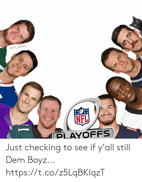 playoffs: @NFL_MEMES  NFL  PLAYOFFS  11 Just checking to see if y'all still Dem Boyz... https://t.co/z5LqBKlqzT
