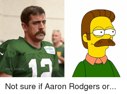 nfl memes not sure if aaron rodgers or 27404199 memes not sure if aaron rodgers or aaron rodgers meme on