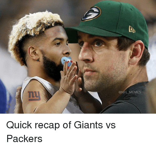 Memes, Giant, and Giants: @NFL MEMES Quick recap of Giants vs Packers