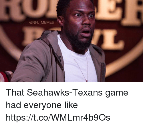 Football, Memes, and Nfl: @NFL_MEMES That Seahawks-Texans game had everyone like https://t.co/WMLmr4b9Os