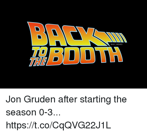 Football, Memes, and Nfl: @NFL MEMES  THE Jon Gruden after starting the season 0-3... https://t.co/CqQVG22J1L