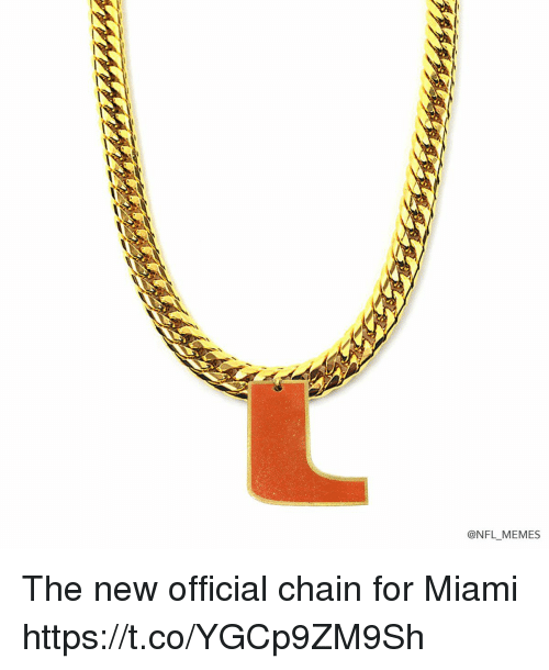 Memes, Nfl, and 🤖: @NFL MEMES The new official chain for Miami https://t.co/YGCp9ZM9Sh
