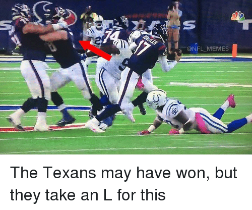 Meme, Memes, and Nfl: NFL MEMES The Texans may have won, but they take an L for this