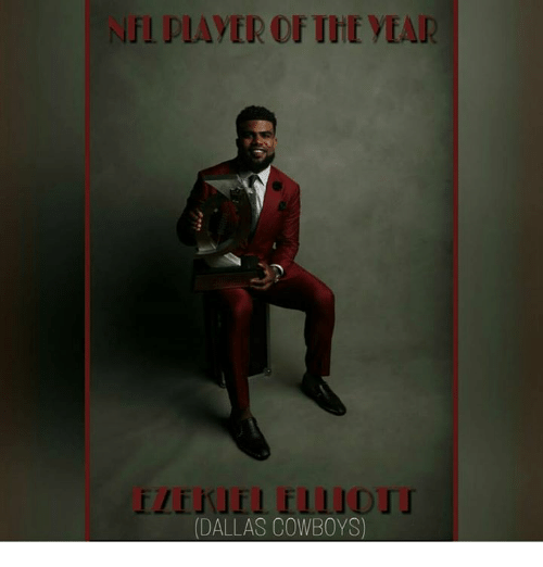 Dallas Cowboys, Memes, and Nfl: NFL PLAYER OF THE YEAR  IZEKJE1 f111 DTI  JE1 f11」DIT  DALLAS COWBOYS)