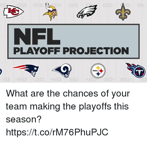 Memes, Nfl, and Nfl Playoff: NFL  PLAYOFF PROJECTION  Steelers What are the chances of your team making the playoffs this season? https://t.co/rM76PhuPJC