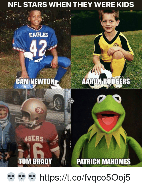 Cam Newton: NFL STARS WHEN THEY WERE KIDS  EAGLES  CAM NEWTON  AARON RODGERS  UY  4SERS  TOM BRADY  PATRICK MAHOMES 💀💀💀 https://t.co/fvqco5Ooj5
