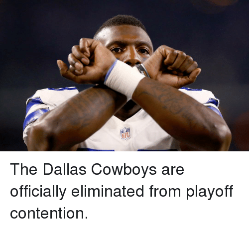 Dallas Cowboys, Sports, and Dallas Cowboys: NFL The Dallas Cowboys are officially eliminated from playoff contention.