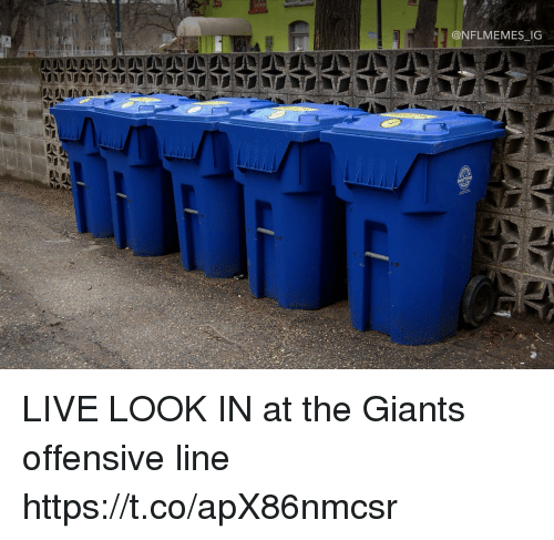 Nflmemes: @NFLMEMES IG LIVE LOOK IN at the Giants offensive line https://t.co/apX86nmcsr