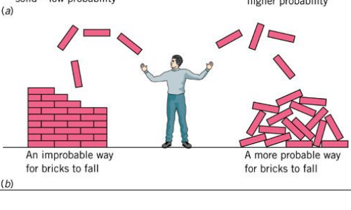 probable: ngle probay  An improbable way  for bricks to fall  A more probable way  for bricks to fall
