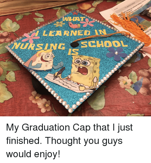 graduation cap: NHAT  I LEARNED  IS My Graduation Cap that I just finished. Thought you guys would enjoy!