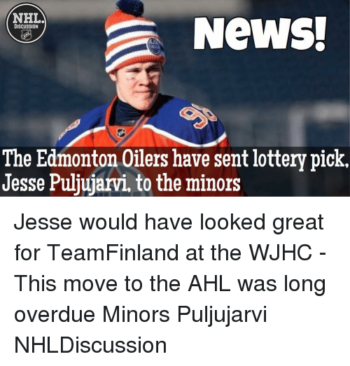 nhla news discussion the edmonton oilers have sent lottery pick 11991048 🔥 25 best memes about edmonton oilers edmonton oilers memes
