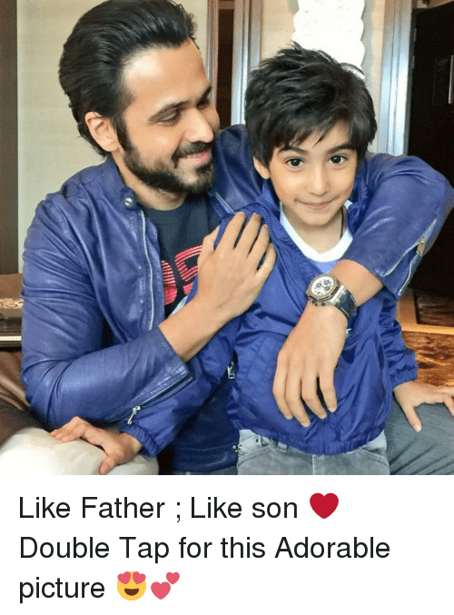 Dekh Bhai and International: Ni Like Father ; Like son ❤️ Double Tap for this Adorable picture 😍💕