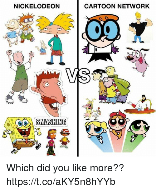 nickelodeon cartoons: NICKELODEON  CARTOON NETWORK  VS Which did you like more?? https://t.co/aKY5n8hYYb