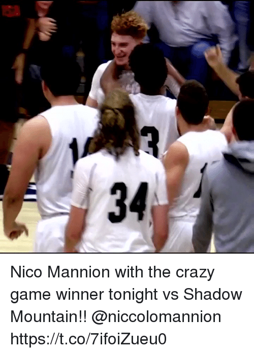 Game Winner: Nico Mannion with the crazy game winner tonight vs Shadow Mountain!! @niccolomannion https://t.co/7ifoiZueu0