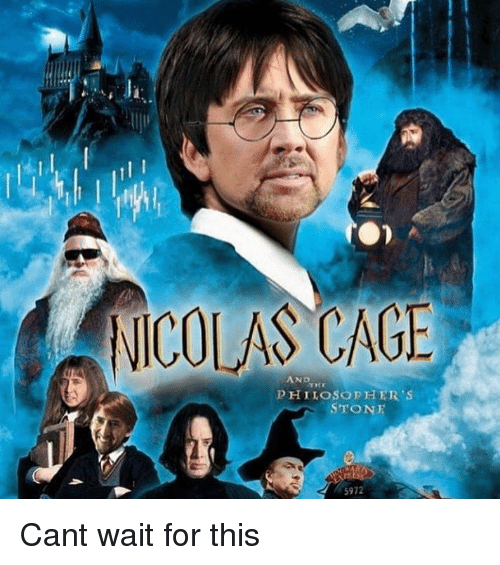 Nicolas Cage: NICOLAS CAGE  AND  PHILOSOPHER'S  STONE  5972 Cant wait for this