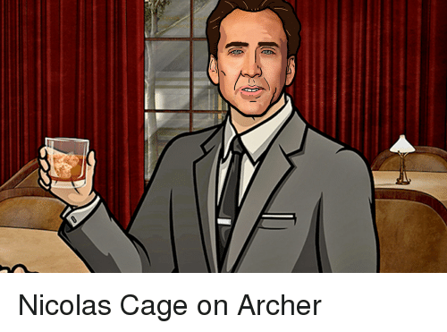 Funny, Nicolas Cage, and Archer: Nicolas Cage on Archer