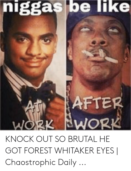 Forest Whitaker Eyes: niggas be Iike  AFTER  At  WORK BWORK KNOCK OUT SO BRUTAL HE GOT FOREST WHITAKER EYES | Chaostrophic Daily ...