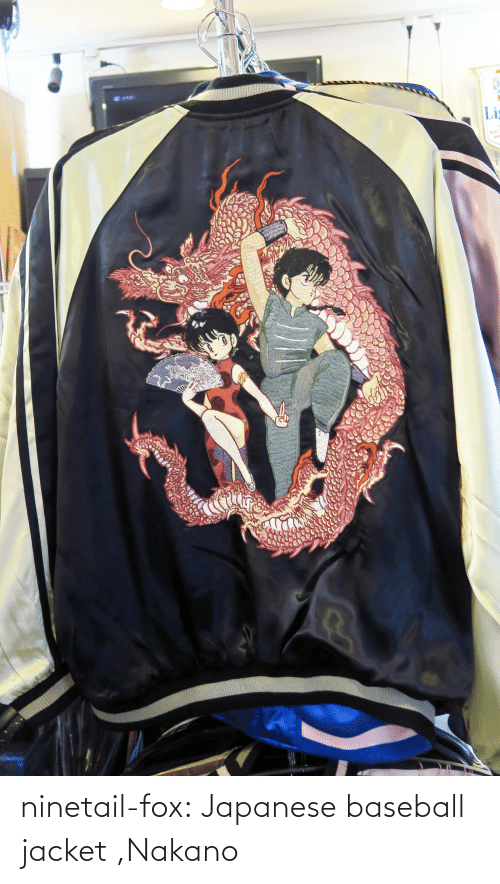 Japanese: ninetail-fox:  Japanese baseball jacket ,Nakano