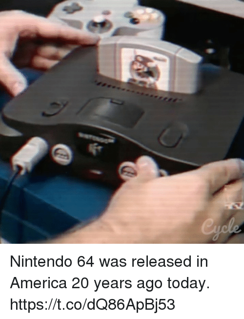 nintendo 64: Nintendo 64 was released in America 20 years ago today. https://t.co/dQ86ApBj53