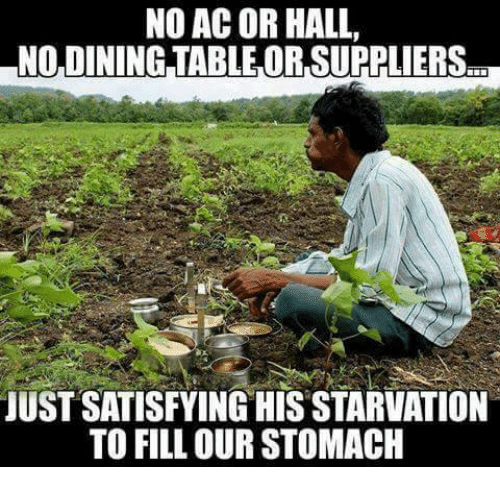 No Ac: NO AC OR HALL,  LNODININGTABLEOR, SUPPLIERS  JUST SATISFYING HIS STARVATION  TO FILL OUR STOMACH