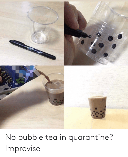 tea: No bubble tea in quarantine? Improvise