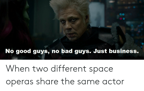 Just Business: No good guys, no bad guys. Just business. When two different space operas share the same actor