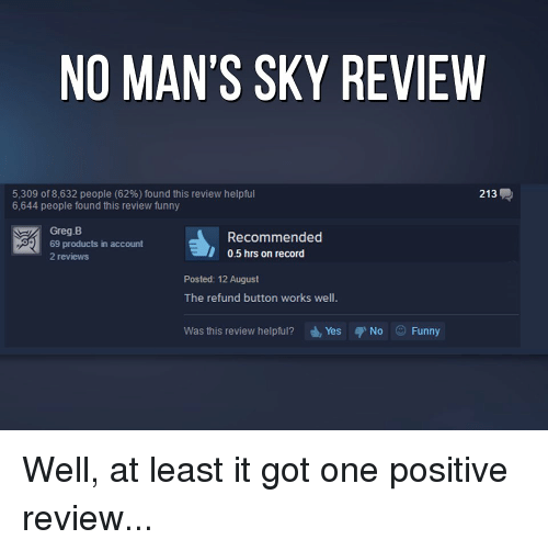 Funny video games and work no man s sky review 5 309 of 8 632