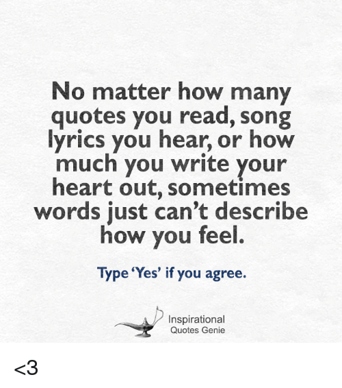 Words to write a song