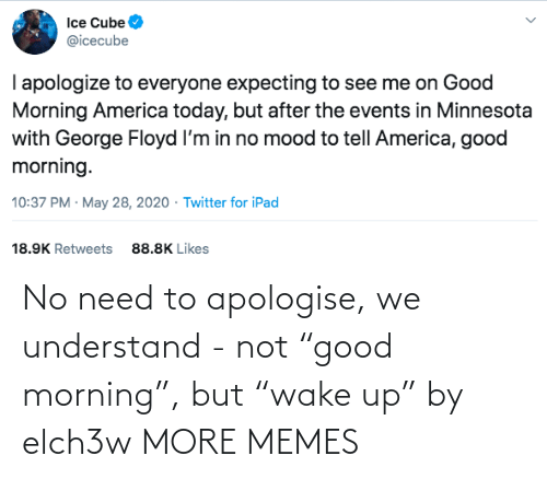 "morning: No need to apologise, we understand - not ""good morning"", but ""wake up"" by elch3w MORE MEMES"