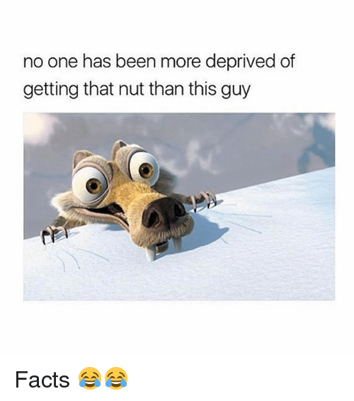 Facts, Memes, and Been: no one has been more deprived of  getting that nut than this guy Facts 😂😂