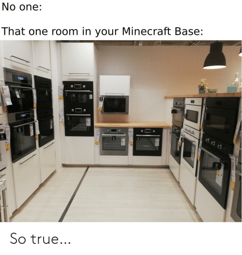 base: No one:  That one room in your Minecraft Base: So true…