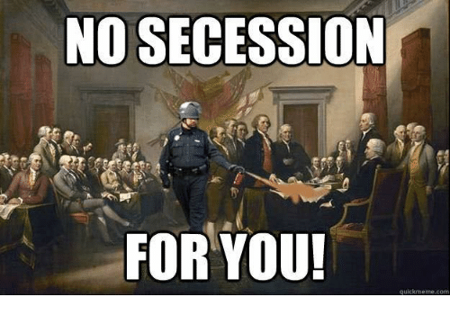 south had the rights to secede To my understanding the south did not have the right to secede from the union according to section 10 of the us constitution, no state shall enter.