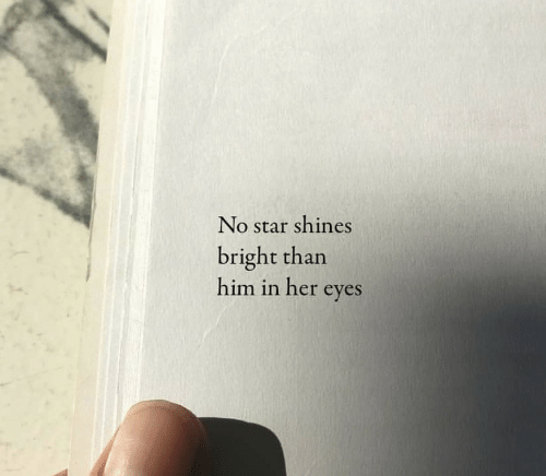 Shines: No star shines  bright than  him in her eyes