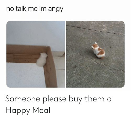 happy meal: no talk me im angy Someone please buy them a Happy Meal