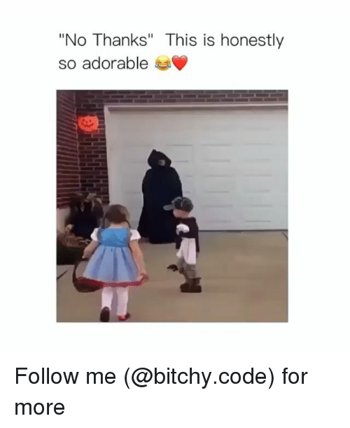 """Memes, Adorable, and 🤖: """"No Thanks"""" This is honestly  so adorable Follow me (@bitchy.code) for more"""