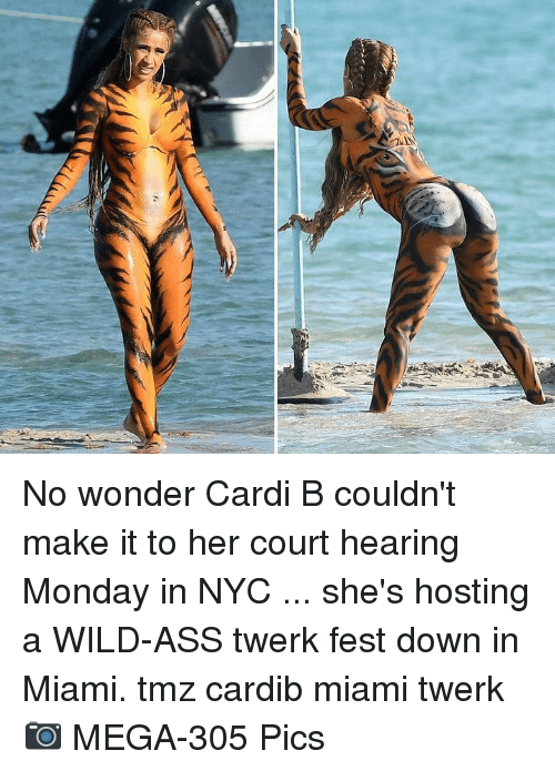 hosting: No wonder Cardi B couldn't make it to her court hearing Monday in NYC ... she's hosting a WILD-ASS twerk fest down in Miami. tmz cardib miami twerk 📷 MEGA-305 Pics