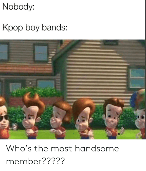 kpop: Nobody:  Kpop boy bands: Who's the most handsome member?????