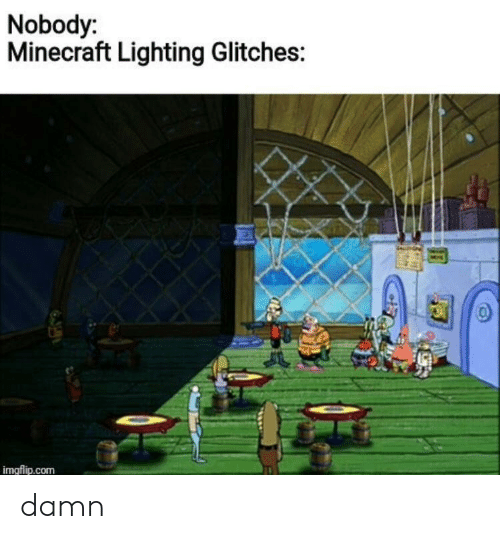 lighting: Nobody:  Minecraft Lighting Glitches:  imgflip.com damn