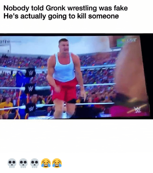 Gronked: Nobody told Gronk wrestling was fake  He's actually going to kill someone  LIVE 💀💀💀😂😂