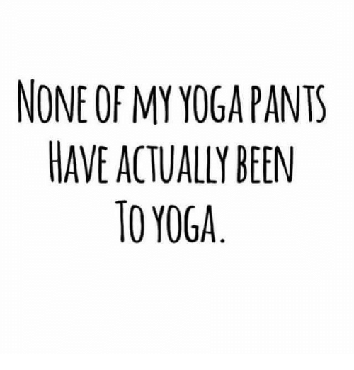 Yoga Pant: NONE OF MY YOGA PANTS  HAVE ACTUALLY BEEN  TO YOGA