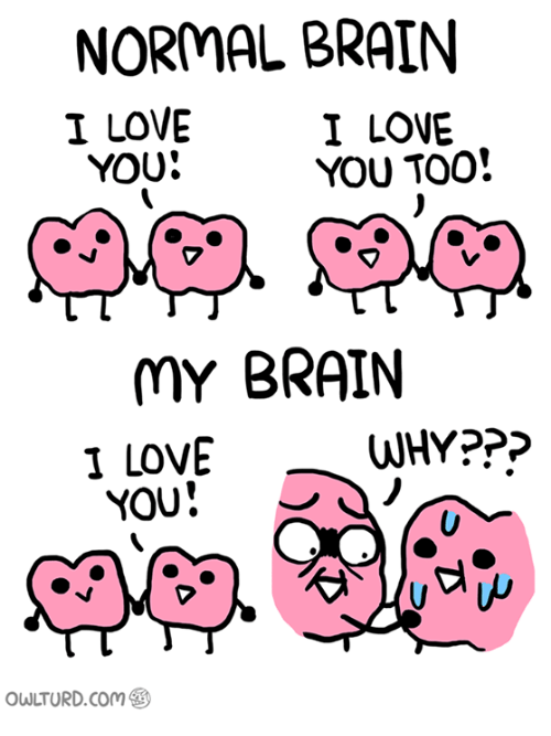 Memes, 🤖, and Ppp: NORMAL BRAIN  I LOVE  I LOVE  YOU TOO!  YOU!  MY BRAIN  WHY PPP  I LOVE  YOU  owLTURD com