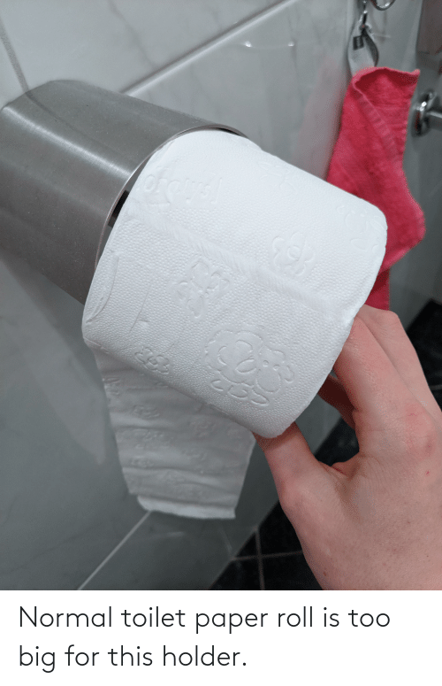 toilet-paper-roll: Normal toilet paper roll is too big for this holder.