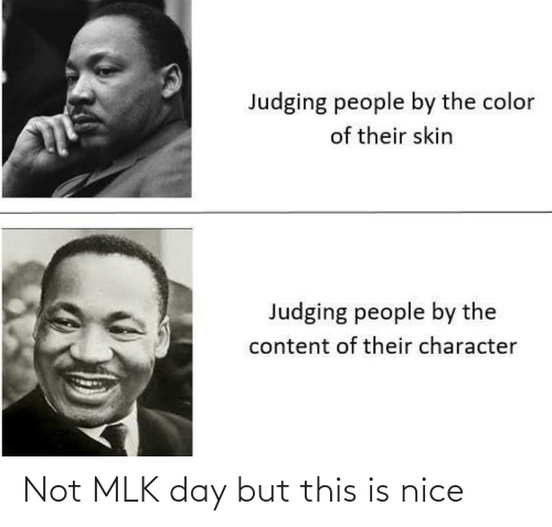 Is Nice: Not MLK day but this is nice