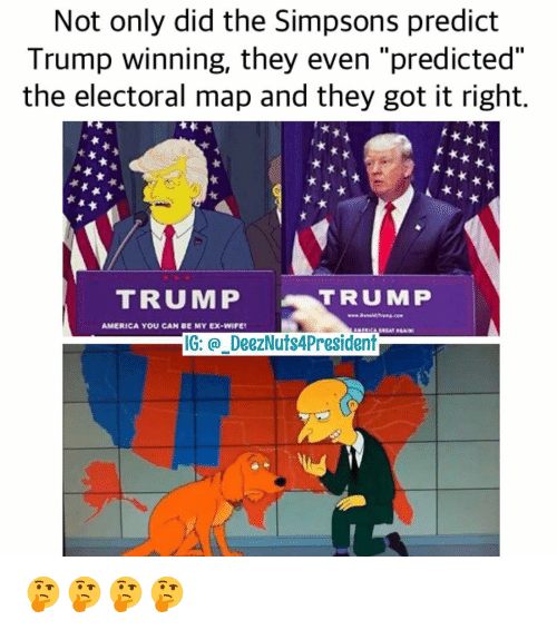 Not Only Did The Simpsons Predict Trump Winning They Even - Simpsons predictions trump us map