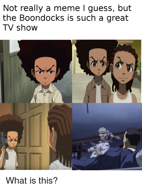 Meme, The Boondocks, and Boondocks: Not really a meme I guess, but  the BoondockS iS Such a great  TV show