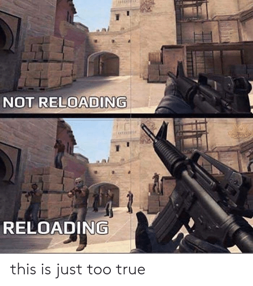 reloading: NOT RELOADING  RELOADING this is just too true