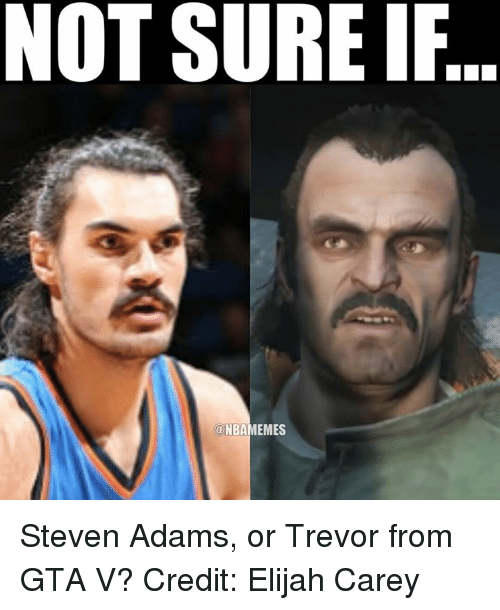 NBA: NOT SURE IF  a NBAMEMES Steven Adams, or Trevor from GTA V? Credit: Elijah Carey