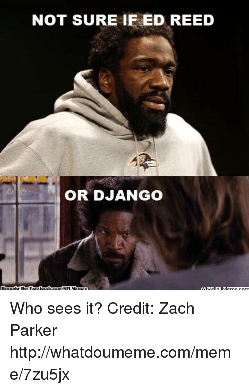Ed Reed: NOT SURE IF ED REED  OR DJANGO Who sees it?