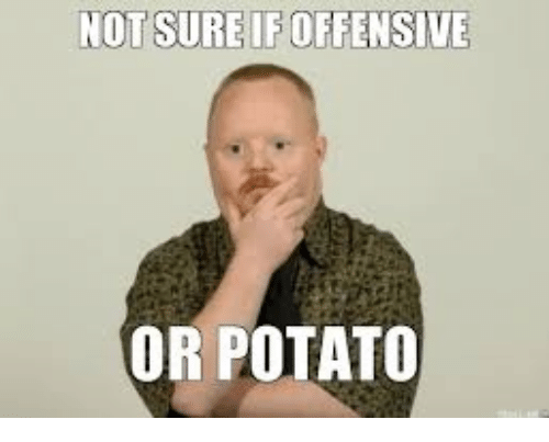 Memes, Potato, and 🤖: NOT SURE IF OFFENSIVE  OR POTATO